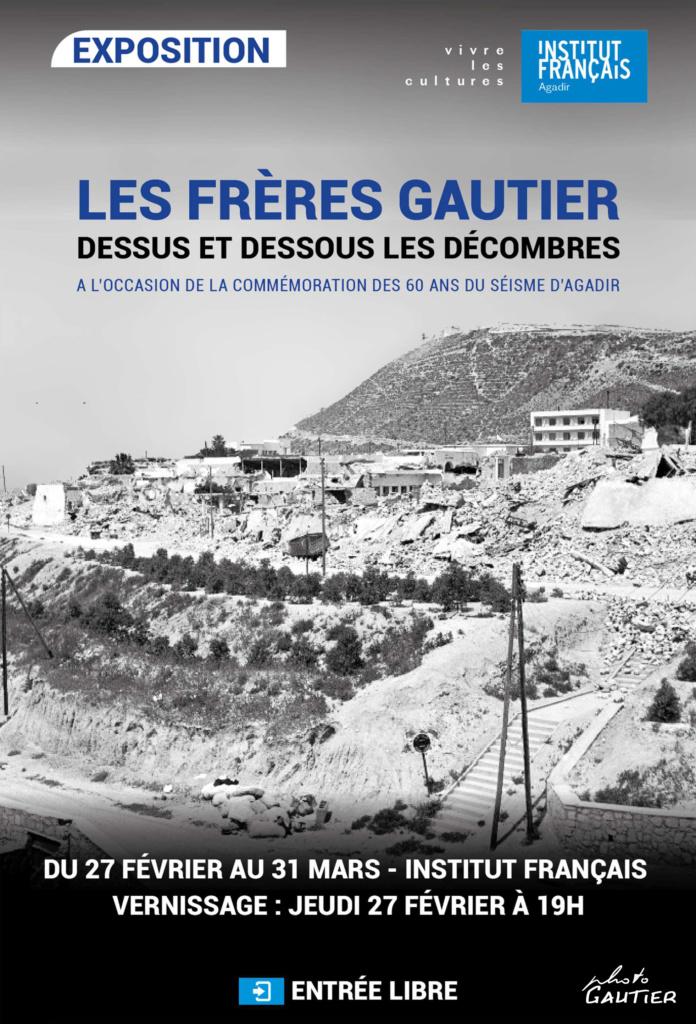 Affiche de l'exposition des frères gautier à l'IFA