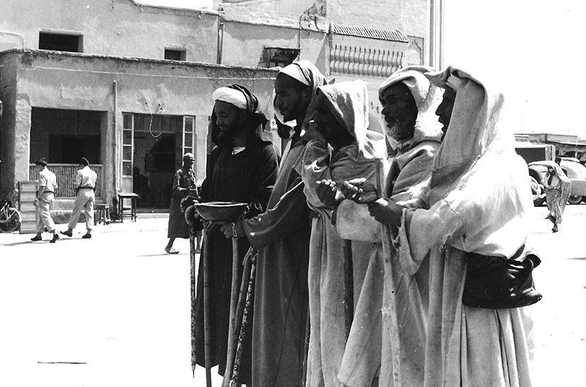 photo d'un groupe de mandiant aveugle au maroc